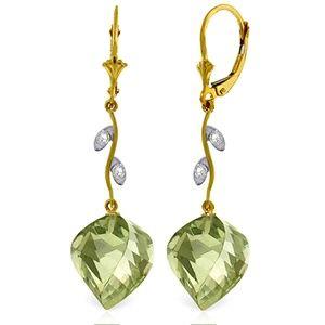 DIAMONDS & BRIOLETTE TWISTED GREEN AMETHYSTS